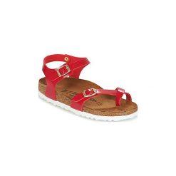 Sandały Dziecko  Birkenstock  TAORMINA. Czerwone sandały chłopięce Birkenstock. Za 263,20 zł.