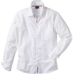 Koszule męskie na spinki: Koszula z długim rękawem Regular Fit bonprix biały