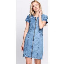 Sukienki hiszpanki: Niebieska Sukienka Subtle Feeling