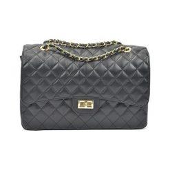 Torebki i plecaki damskie: Skórzana torebka w kolorze czarnym – (S)22 x (W)32 x (G)12 cm