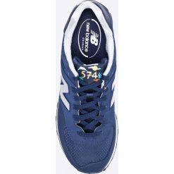 New Balance - Buty ML574SKH. Niebieskie halówki męskie marki New Balance, z materiału, na sznurówki. W wyprzedaży za 219,90 zł.
