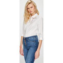 Guess Jeans - Koszula. Szare koszule jeansowe damskie Guess Jeans, l, z aplikacjami, eleganckie, z klasycznym kołnierzykiem, z długim rękawem. Za 399,90 zł.