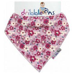 Xkko Śliniaczek Dribble Ons Floral Ditsy. Różowe śliniaki Xkko, z bawełny. Za 32,00 zł.