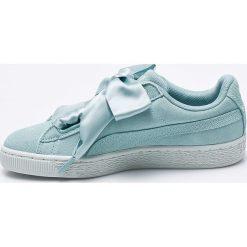 Puma - Buty Suede Heart Pebble Wn's. Szare buty sportowe damskie Puma, z gumy. W wyprzedaży za 249,90 zł.