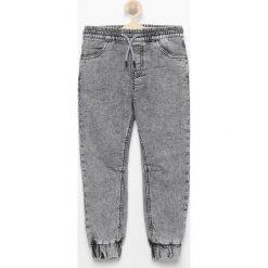 Chinosy chłopięce: Jeansowe spodnie jogger - Czarny
