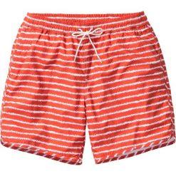 Długie szorty plażowe w paski bonprix koralowy w paski. Czerwone bermudy męskie bonprix, w paski. Za 74,99 zł.