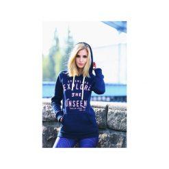 BLUZA EXPLORE THE UNSEEN. Niebieskie bluzy męskie rozpinane Dreamland, s, z bawełny. Za 100,00 zł.