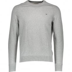 Sweter w kolorze szarym. Szare swetry klasyczne męskie marki Ben Sherman, m, z haftami, z bawełny, z okrągłym kołnierzem. W wyprzedaży za 130,95 zł.