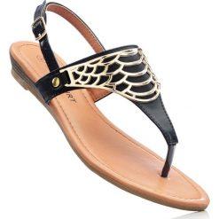 Sandały japonki bonprix czarny. Czarne rzymianki damskie bonprix. Za 59,99 zł.