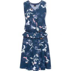 Sukienki: Sukienka z dżerseju bonprix ciemnoniebieski z nadrukiem