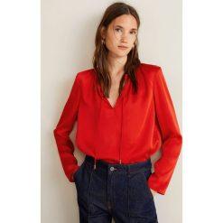 Mango - Bluzka Cordon. Czarne bluzki wizytowe marki bonprix, eleganckie. Za 119,90 zł.