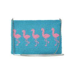 Puzderka: Kopertówka w kolorze turkusowo-różowym – (D)25 x (S)15 cm