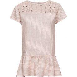 Bluzka lniana w paski bonprix dymny różowy - biały w paski. Czerwone bluzki asymetryczne bonprix, w paski. Za 69,99 zł.