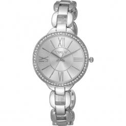 """Zegarek kwarcowy """"Fairy"""" w kolorze srebrnym. Szare, analogowe zegarki damskie METROPOLITAN, metalowe. W wyprzedaży za 152,95 zł."""