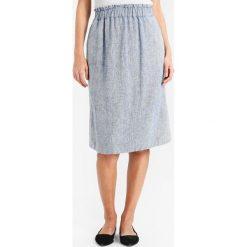 Noa Noa HEERINGBONE Spódnica trapezowa art blue. Niebieskie spódniczki skórzane marki Noa Noa, trapezowe. W wyprzedaży za 344,25 zł.