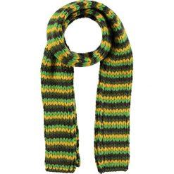 """Szal """"Maira"""" w kolorze zielono-żółto-brązowym - 20 x 175 cm. Brązowe szaliki damskie Schöffel, z aplikacjami, z materiału. W wyprzedaży za 77,95 zł."""