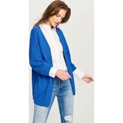 Kardigany damskie: Długi kardigan – Niebieski