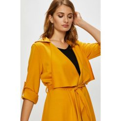 Answear - Płaszcz. Brązowe płaszcze damskie marki ANSWEAR, l, z elastanu. W wyprzedaży za 69,90 zł.