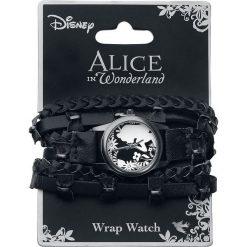 Zegarki damskie: Alicja w Krainie Czarów Flower Alice Zegarek na rękę czarny