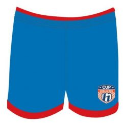 Odzież chłopięca: Huari Szorty juniorskie Kempes Junior Short French Blue/ Fiery Red r. 158
