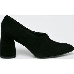 Gino Rossi - Czółenka. Czarne buty ślubne damskie marki Gino Rossi, z materiału, na obcasie. Za 499,90 zł.