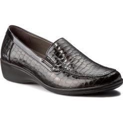 Półbuty COMFORTABEL - 942124 Grau 9. Czarne półbuty damskie na koturnie marki Comfortabel, ze skóry ekologicznej. W wyprzedaży za 239,00 zł.