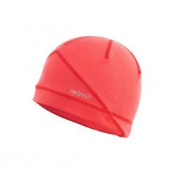 Czapka narciarska XC S 500 damska. Czerwone czapki damskie marki INOVIK, z elastanu. Za 39,99 zł.