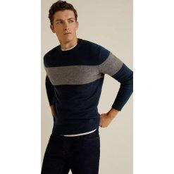 Mango Man - Sweter Foot. Szare swetry klasyczne męskie Mango Man, l, z poliesteru, z okrągłym kołnierzem. Za 199,90 zł.