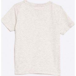 Name it - Top dziecięcy 92-122. Szare bluzki dziewczęce Name it, z nadrukiem, z bawełny, z okrągłym kołnierzem. W wyprzedaży za 19,90 zł.