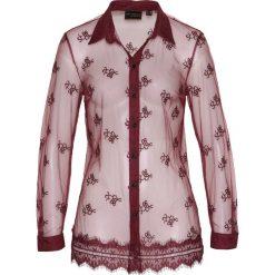 Bluzki damskie: Bluzka z koronką bonprix czerwony klonowy