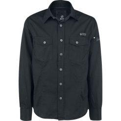 Brandit Slim Fit Shirt Koszula czarny. Białe koszule męskie na spinki marki Brandit, l, z aplikacjami, z bawełny, z długim rękawem. Za 121,90 zł.