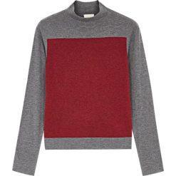 Odzież damska: Sweter w kolorze szaro-czerwonym