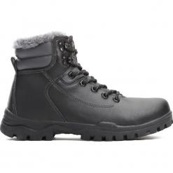 Czarne Traperki Sinking Ship. Czarne buty zimowe chłopięce Born2be, z materiału, z okrągłym noskiem, na sznurówki. Za 99,99 zł.