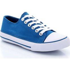 Tenisówki płócienne rozm. 26-40. Szare buty sportowe chłopięce La Redoute Collections, z bawełny, sportowe, na sznurówki. Za 61,70 zł.