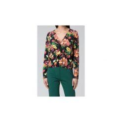 Bluzki asymetryczne: Koszule Mosali  Bluzka M043 Print Ciemny