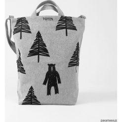 Shopper bag damskie: Ekologiczna torba z niedźwiedziem