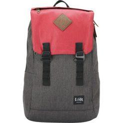 Plecaki męskie: Plecak w kolorze szaro-czerwonym – 35 x 49 x 15 cm