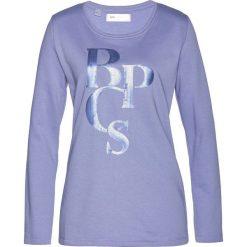 Bluza dresowa bonprix jasny lawendowy. Fioletowe bluzy damskie bonprix, z dresówki. Za 69,99 zł.