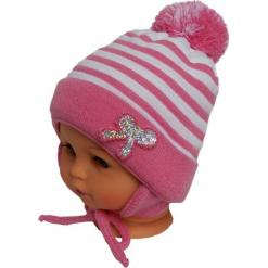 Czapka niemowlęca z szalikiem CZ+S 009C. Różowe czapeczki niemowlęce Proman. Za 36,70 zł.