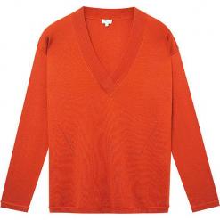 Sweter jedwabny w kolorze pomarańczowym. Brązowe swetry klasyczne damskie marki Ateliers de la Maille, z jedwabiu. W wyprzedaży za 318,95 zł.