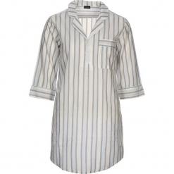 """Koszula nocna """"Free Dreams"""" w kolorze błękitno-szaro-białym. Białe koszule nocne i halki marki LASCANA, w koronkowe wzory, z koronki. W wyprzedaży za 104,95 zł."""