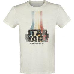 T-shirty męskie: Star Wars Retro Rainbow Logo T-Shirt biały