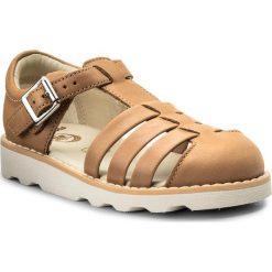 Sandały dziewczęce: Sandały CLARKS – Crown Stem 261334617 Tan Leather