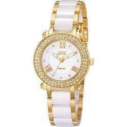 """Zegarki męskie: Zegarek kwarcowy """"Mina"""" w kolorze biało-złotym"""