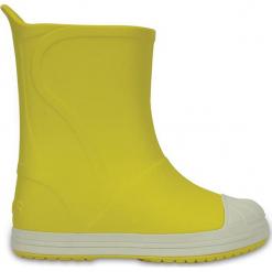 """Kalosze """"Bump It"""" w kolorze żółtym. Żółte kalosze dziewczęce marki Crocs. W wyprzedaży za 82,95 zł."""
