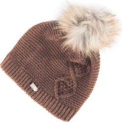 Czapka damska 83-HF-014-5. Brązowe czapki damskie Wittchen, na zimę, z materiału. Za 79,00 zł.