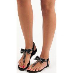 MARIA sandały japonki z gumką czarne. Czarne sandały damskie ABLOOM. Za 58,90 zł.