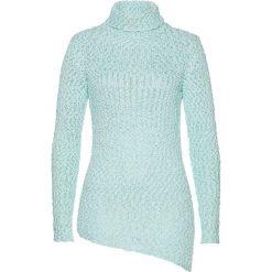 Swetry damskie: Sweter bonprix pastelowy miętowy - srebrny