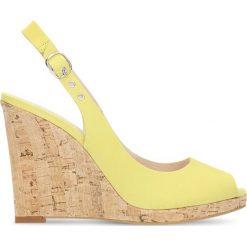 Czółenka AURORA. Szare buty ślubne damskie marki Gino Rossi, z gumy. Za 149,90 zł.