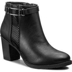 Botki JENNY FAIRY - LS4255-03 Czarny. Czarne buty zimowe damskie marki Jenny Fairy, z materiału. Za 119,99 zł.